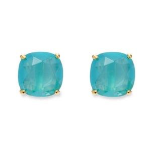 NWT Kate Spade Turquoise Square Stud Earrings
